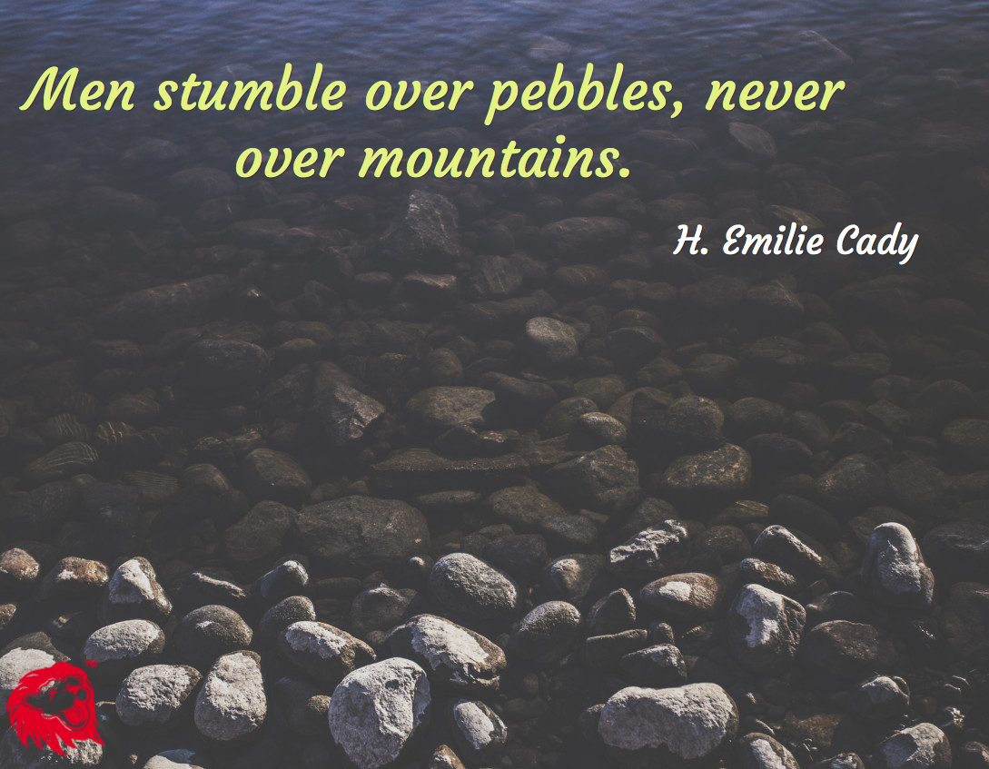 men pebbles mountains