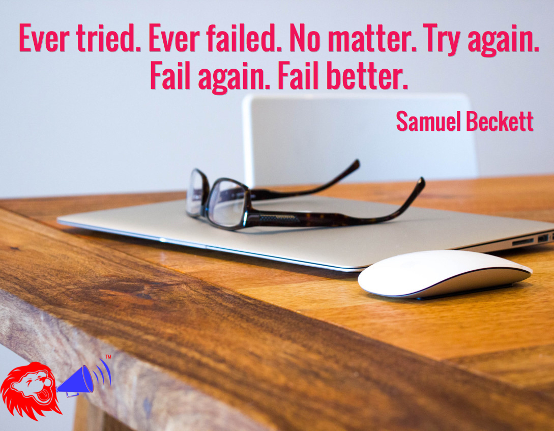 never give up try failure
