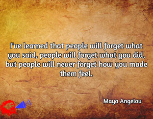 maya angelou - how people feel